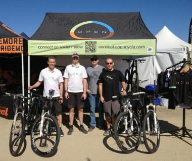 At SeaOtter from left to right: Andy, myself, Jason and Mark (both from our Newport Beach retailer Pro Bike Supply).